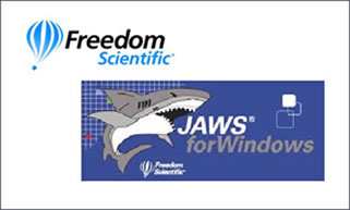 image comprising the Freedom Scientific and JAWS logos